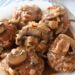 Mini Salisbury Steaks with Mushroom and Onion Gravy